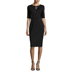 Nicole By Nicole Miller 3/4 Sleeve Sheath Dress