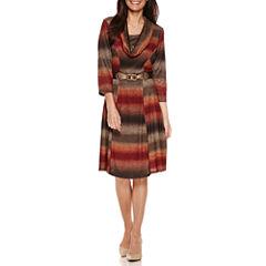 Robbie Bee Short Sleeve Sweater Dress-Petites