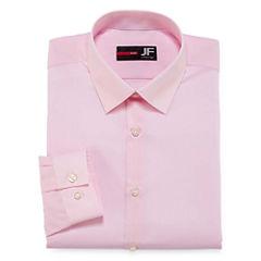 J.Ferrar Easy-Care Solid Slim Fit Long Sleeve Dress Shirt
