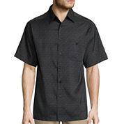 Haggar Short Sleeve Printed Microfiber Shirt