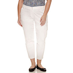 Liz Claiborne Curvy Fit Slim Pants-Plus