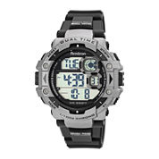 Armitron® Mens Black Nylon Strap Chronograph Watch 40/8309GRY