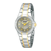 Pulsar® Womens Crystal-Accent Two-Tone Stainless Steel Bracelet Watch  PH7294