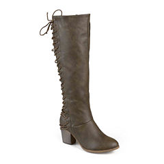 Journee Collection Amara Lace-Back Riding Boots - Wide Calf