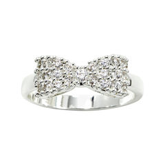 city x city® Mini-Bow Cubic Zirconia Ring