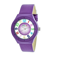 Crayo Unisex Purple Strap Watch-Cracr3507