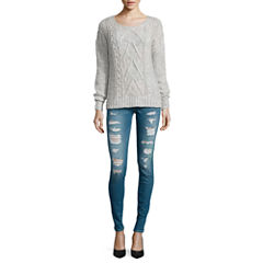 Arizona Chunky Pullover Sweater or Skinny Jeans