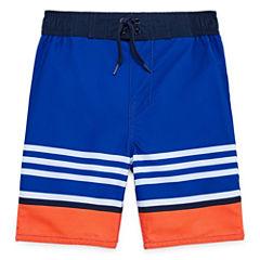 Arizona Boys Stripe Swim Trunks-Preschool