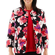 Alfred Dunner® Play On Color 3/4-Sleeve Floral Print Jacket