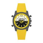 DC Comics® Mens Batman Yellow Strap Watch