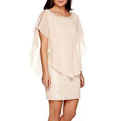 Studio 1® Lace Cape Dress