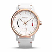 Garmin Vivomove Womens White Leather Band Smartwatch-0100159713
