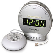 Sonic Alert SA-SBT425SS Sonic Boom Alarm Clock & Telephone Signaler with Super Shaker