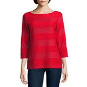 St. John`s Bay 3/4 Sleeve T-Shirt