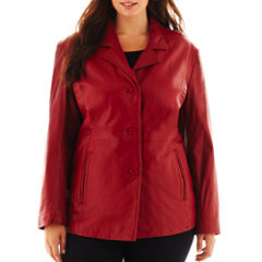 Excelled Button-Front Jacket - Plus