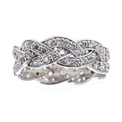 DiamonArt® Cubic Zirconia Sterling Silver Infinity Ring