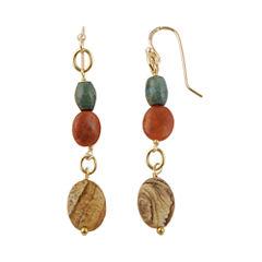 Art Smith by BARSE Multi-Stone Brass Drop Earrings