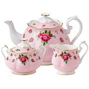 Royal Albert® Pink Vintage 3-pc. Bone China Teapot Set