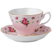 Royal Albert® Pink Vintage Teacup & Saucer Set
