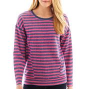 jcp™ Long-Sleeve Striped Sweatshirt