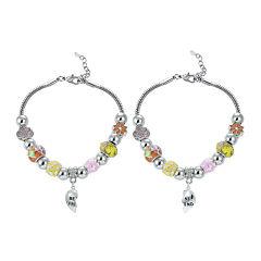 Dazzling Designs™ Best Friend Yellow Heart Charm 2-pc. Bracelet Set