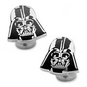 Star Wars® Recessed Matte Darth Vader Head Cuff Links