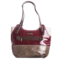 Gloria Vanderbilt Colorblock Double Handle Hobo Bag