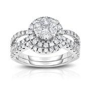 Womens 1 1/4 CT. T.W. White Diamond 14K Gold Cocktail Ring