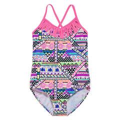 St. Tropez Solid One Piece Swimsuit Big Kid Girls