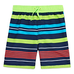 Arizona Boys Stripe Swim Trunks-Toddler