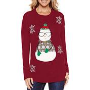 Tiara Snowman Crew Neck Sweater