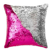 JCPenney Home™ Mermaid Square Sequins Decorative Pillow