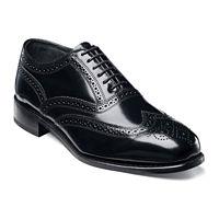 Florsheim Lexington Mens Wingtip Oxfords Shoe (Black, Cognac or Burgundy)