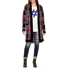 Arizona Brushed Plaid Duster, Tunic Sweater or Skinny Jeans