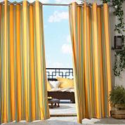 Gazebo Stripe Grommet-Top Outdoor Curtain Panel