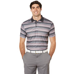 PGA TOUR Short Sleeve Stripe Doubleknit Polo Shirt