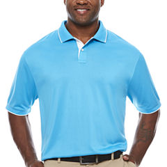 Claiborne Short Sleeve Polo Shirt- Big and Tall