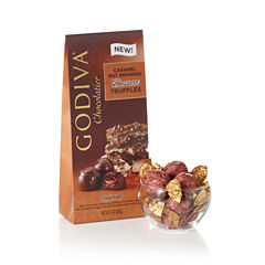 Godiva Dark Caramel Nut Brownie Truffles