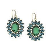 1928® Green Gold-Tone Statement Earrings