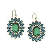 1928® Green Gold-Tone Statement Earrings
