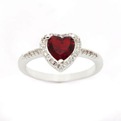 Sparkle Allure Womens Red Silver Over Brass