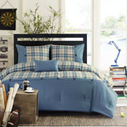 Intelligent Design Campbell Plaid Comforter Set + BONUS Decorative Pillow