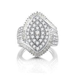 2 CT. T.W. White Diamond 10K Gold Cocktail Ring