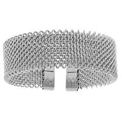 Womens Stainless Steel Cuff Bracelet
