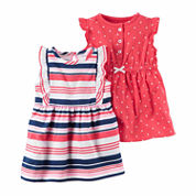 CARTER'S GIRLS 2PK ROMPER SET