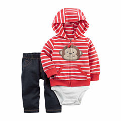 Carter's 3-pc. Long Sleeve Pant Set-Baby Boy