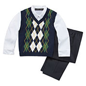 3-pc. Sweater Vest Set - Toddler Boys 2t-5t
