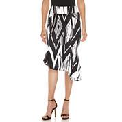 Bisou Bisou Seamed Assymetrical Skirt