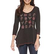 Unity World Wear Long Sleeve V Neck T-Shirt-Petites