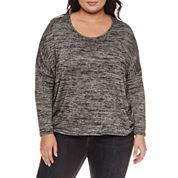Boutique + Long Sleeve Scoop Neck T-Shirt-Plus